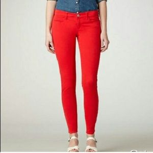 American Eagle Red Stretch Jegging Jeans